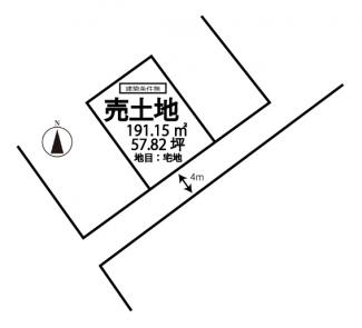 【土地図】坂出市江尻町売地