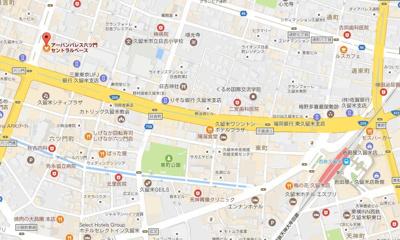 【地図】アーバンパレス六ツ門セントラルベース