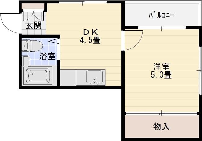 レヴィ八尾南 1Dk 八尾南駅 藤井寺駅 長原駅