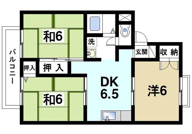 和室のある3DKのお部屋です
