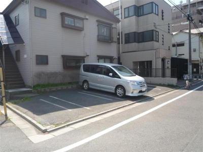 【外観】コーポときわ駐車場