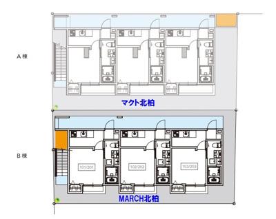 【区画図】MARCH北柏(マーチキタカシワ)