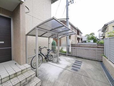 ゆったりとした駐輪スペース