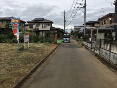 【前面道路含む現地写真】伊奈東34番