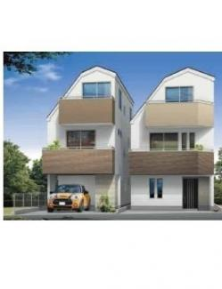 大田区大森南2丁目 新築分譲住宅 全2棟 【B号棟】 外観パース