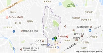 【地図】シティハイツ天神 (株)Roots