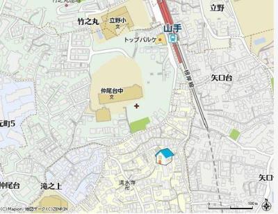 【地図】プレール横浜山手