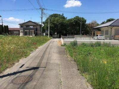 【前面道路含む現地写真】つくばみらい市上長沼