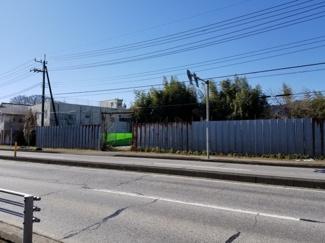 【前面道路含む現地写真】栃木市片柳町 事業用地