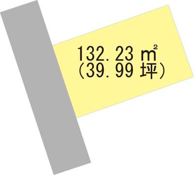 【区画図】【売地】箕島中学校区・120006