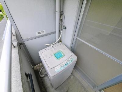 洗濯機を置く場所もあります