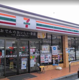 東京都世田谷区代沢2丁目B区画売地 近くにセブンイレブンがあります。
