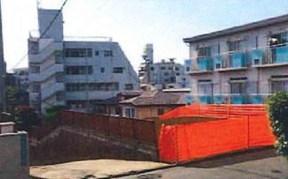 東京都世田谷区代沢2丁目B区画売地 現地写真です。建築条件なしの売地です。