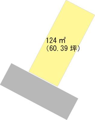 【区画図】【売地】河西中学校区・25934
