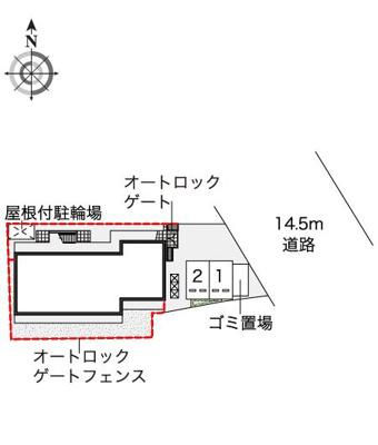 【地図】 レオパレスパタータⅢ