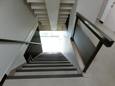 共用部階段です。