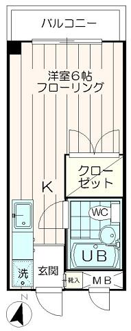 洋室6.0帖のフローリング物件【JKビル】