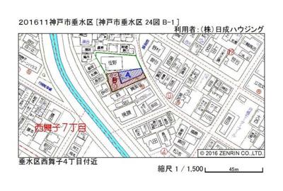 【地図】西舞子4丁目A号地