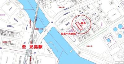 【地図】フラットD