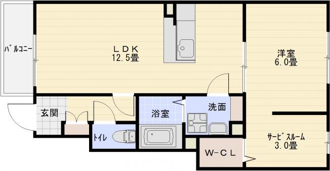 河内山本駅 1LDK