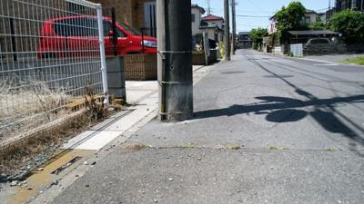 【前面道路含む現地写真】建築条件なし売地 羽生市東3丁目 70坪以上
