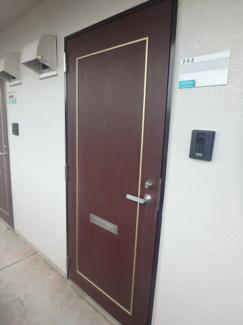 岡山市北区今 SKマンション 1K 玄関