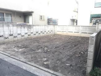 東京都大田区中央8丁目 建築条件付き売地 外観です。現況更地となっています。