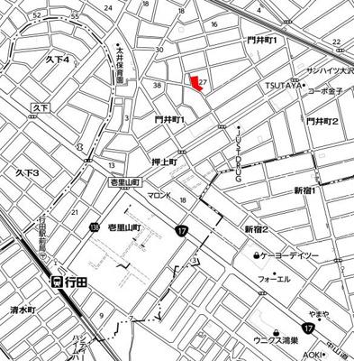 【地図】行田市門井町分譲地
