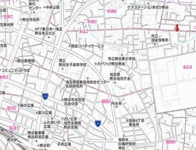 【地図】熊谷市上之区画整理地内売地