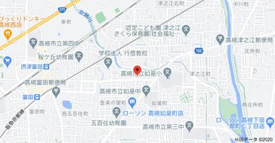 【地図】ハイツ五百住 (株)Roots