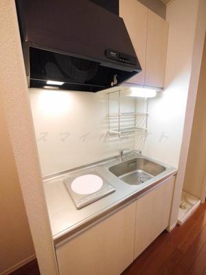 お掃除楽々IH1口キッチンです。
