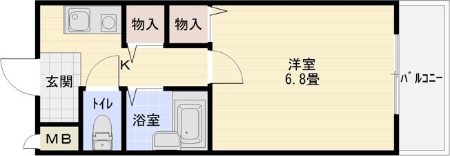 ウイング 河内国分駅 高井田駅 大阪教育大前駅 1K 柏原市国分西