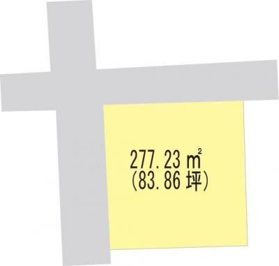 【区画図】【売地】海南中学校区・120068