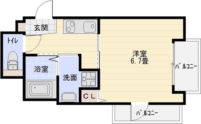 藤井寺市 古市駅 トイレバス別 1K