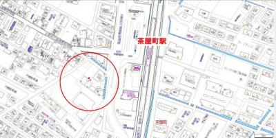 【地図】グレイス茶屋町駅前 B