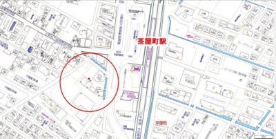 【地図】グレイス茶屋町駅前 A