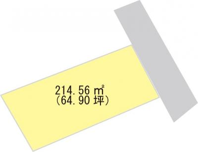 【区画図】【売地】伊中学校区・29715