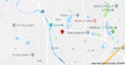 【地図】塚原3丁目戸建て2戸1 (株)Roots