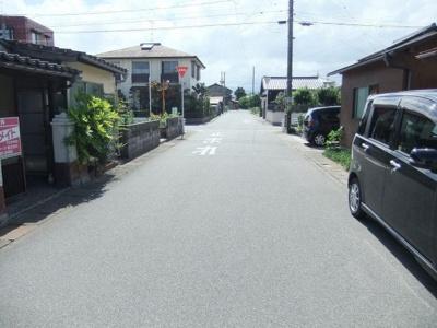 【前面道路含む現地写真】境港市上道町 売土地