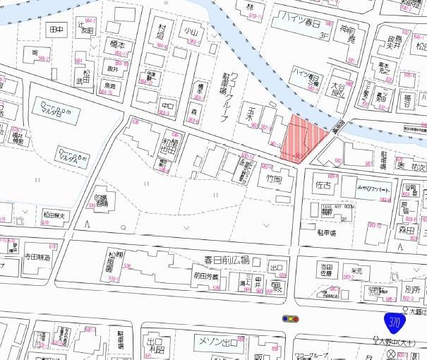 【地図】海南市大野中分譲地Ⅱ
