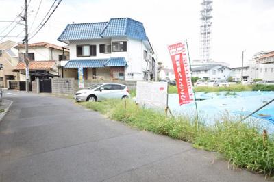 【前面道路含む現地写真】MLH藤沢5棟(NO.2)-建築条件無し売地(土地)