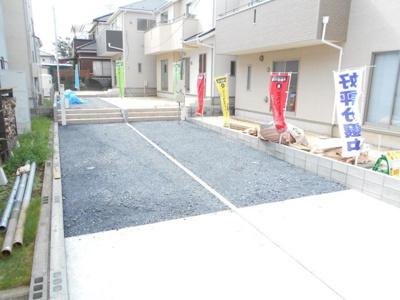 2380から2280から2180万円に価格変更。 駐車2台。庭付き。ひな壇。