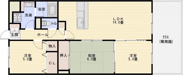 柏原市大県3丁目 3LDK 堅下駅 カウンターキッチン