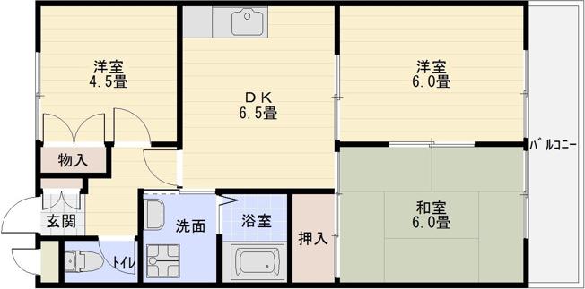 八尾市教興寺 ペットOK 3DK