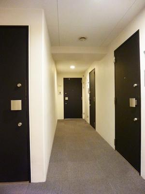 プロスペクトKALON三ノ輪の雨に濡れない内廊下です
