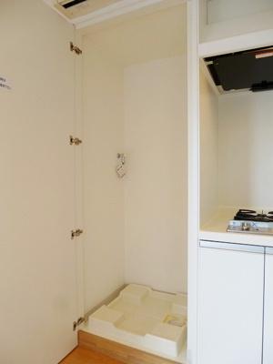 プロスペクトKALON三ノ輪1DKの室内洗濯機置場です