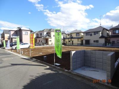 【前面道路含む現地写真】さいたま市緑区三室 売地広々42坪以上 全4区画