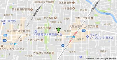 【地図】アベニュー南茨木