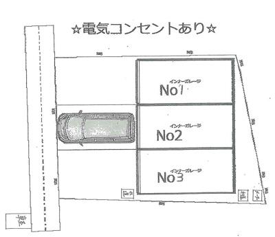 【区画図】大庄西町シャッター付ガレージ