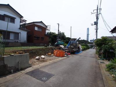 【前面道路含む現地写真】保土ヶ谷区新井町全3棟 新築戸建て